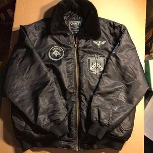 Avirex Superior Bomber Jacket Black Men's Size L